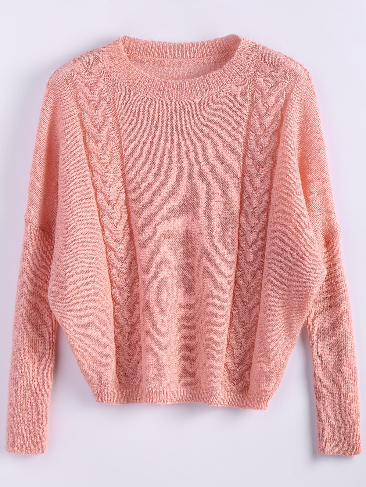 Shops Batwing Sleeve Cable Jumper