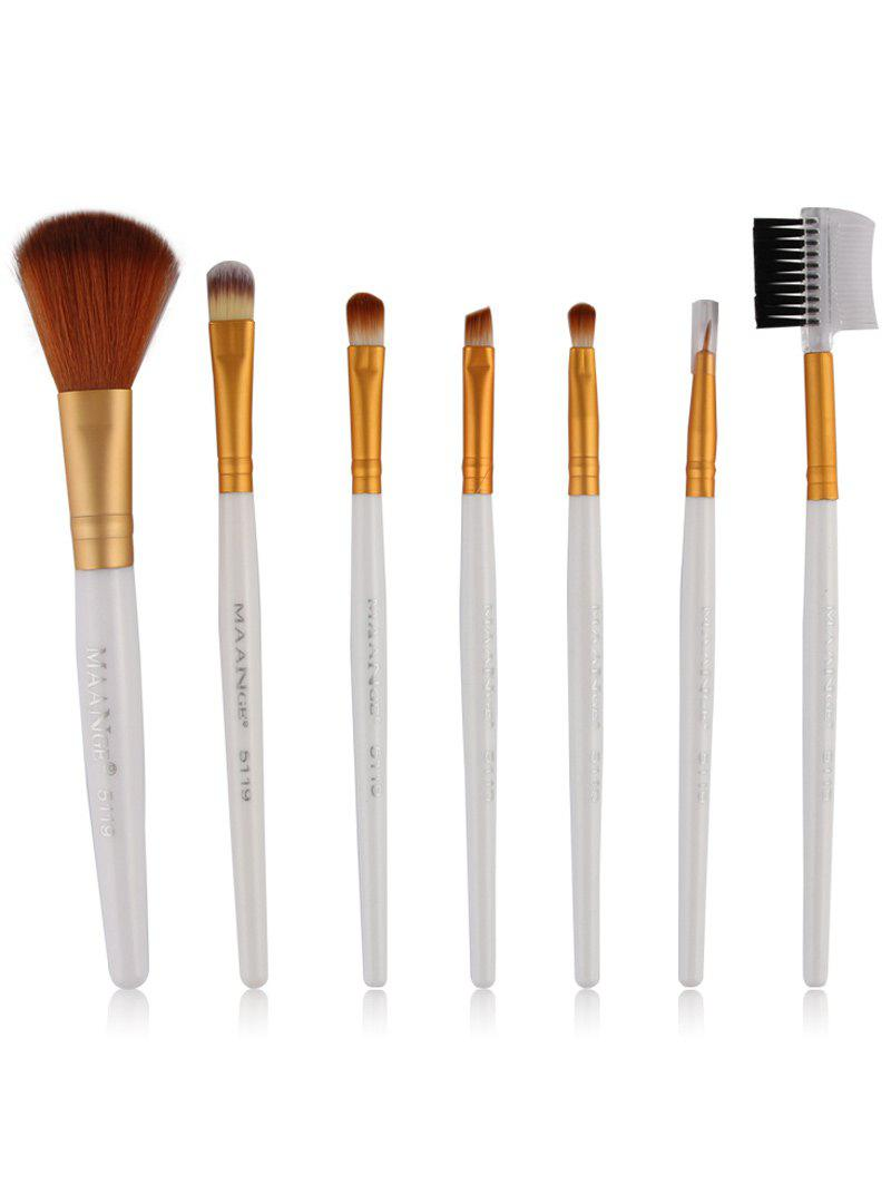 Latest 7 Pcs Fiber Makeup Brushes Set