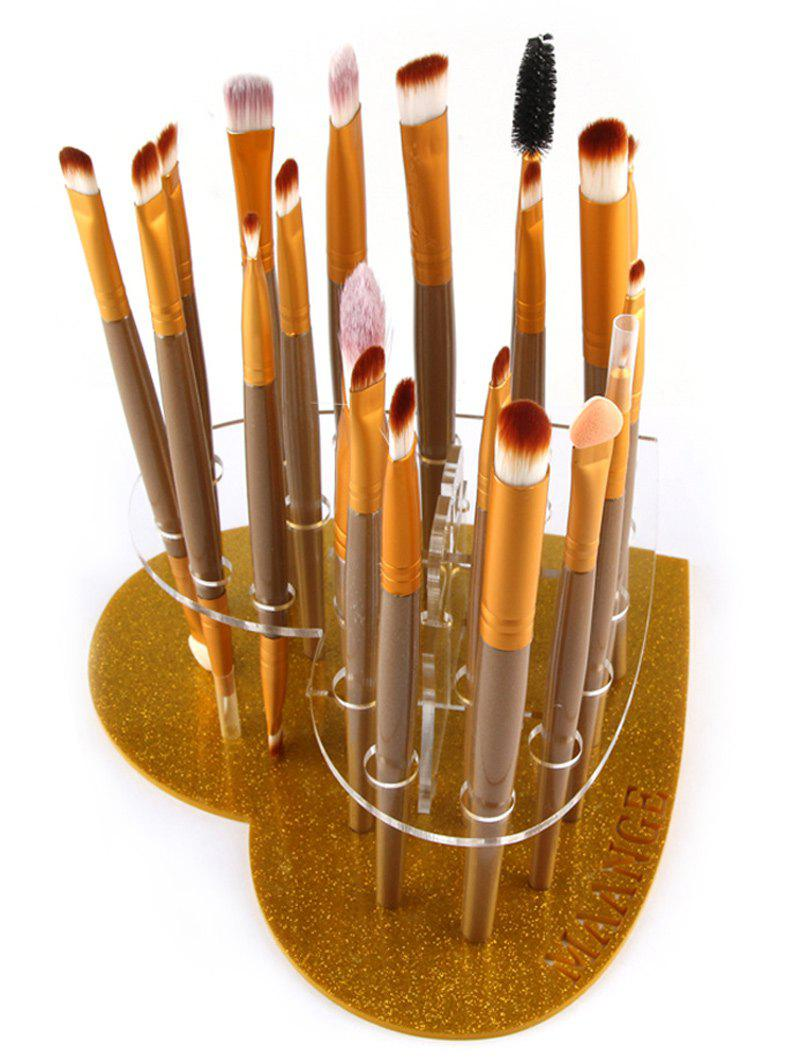 Heart Shape Brush Stand Brush HolderBEAUTY<br><br>Color: GOLDEN; Category: Makeup Brushes Set; Season: Fall,Spring,Summer,Winter; Size(CM)(L*W*H): 15.5*14.5cm; Weight: 0.120kg; Package Contents: 1 x Brush Stand;