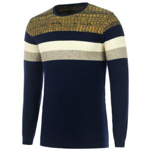 Color Matching Wavy Stripes Knitted Sweater