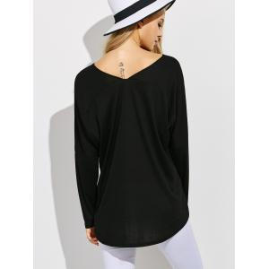 V  Neck  High Low Tee -