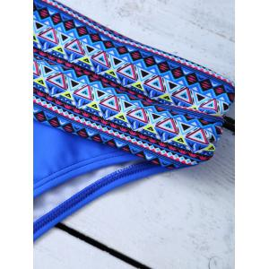 Halter Tribal Print Unlined Bikini -