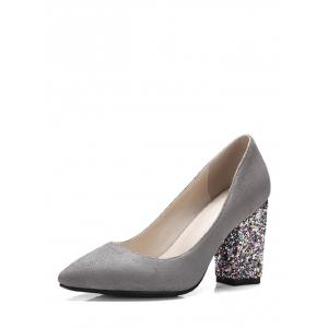 Glitter Sequined Pointed Toe Pumps -