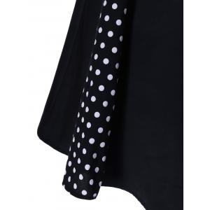 Sleeveless Polka Dot Retro Dress -