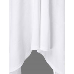 Butterfly Sleeve Asymmetrical Plus Size Tee - WHITE 2XL