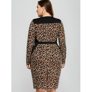 Leopard Plus Size Midi Dress -