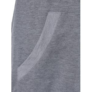 Long Sleeve Tee With Pocket - GRAY XL