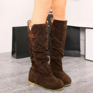 Mid Calf Slouch Boots -