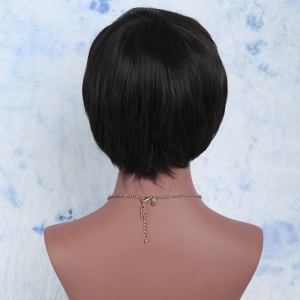Spiffy Short Synthetic Full Bang Straight Wig -