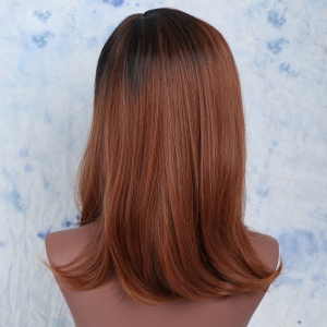 Medium Colormix Synthetic Side Parting Straight Wig -