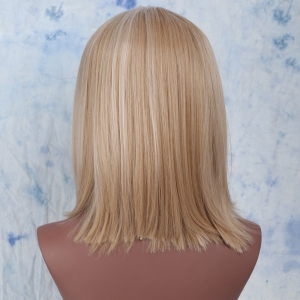 Medium Synthetic Side Parting Colormix Straight Wig -