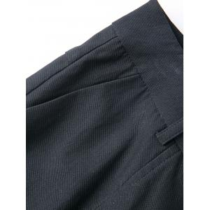 Plus Size Plain Pants with Pockets - BLACK 5XL