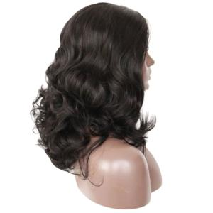 Medium Middle Part Wavy Lace Front Synthetic Wig -