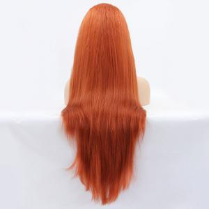 Faddish Long Straight Lace Front Synthetic Wig -