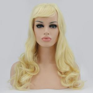 Sparkling Long Side Bang Wavy Lace Front Synthetic Wig -