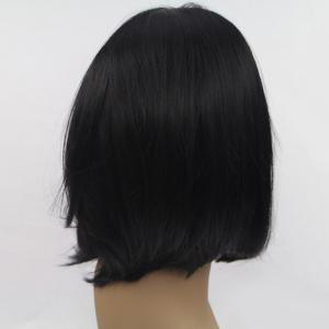 Short Middle Part Straight Lace Bobs Front Synthetic Wig -