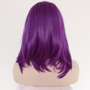 Medium Side Parting Straight Lace Front Synthetic Wig -