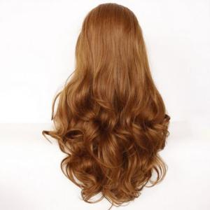 Fascinating Long Side Parting Wavy Lace Front Synthetic Wig -