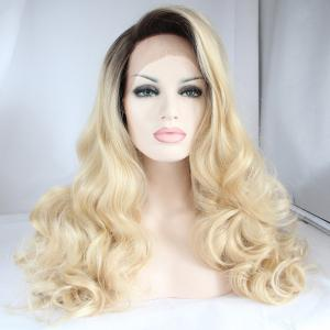 Long Side Parting Wavy Fascinating Lace Front Synthetic Wig -