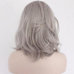 Medium Slightly Curled Fascinating Lace Front Synthetic Wig -