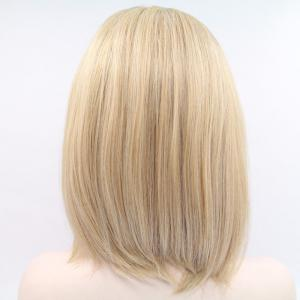 Medium Side Parting Asymmetric Straight Lace Front Synthetic Wig -