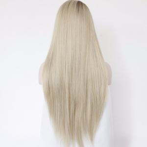 Faddish Long Side Parting Straight Lace Front Synthetic Wig -