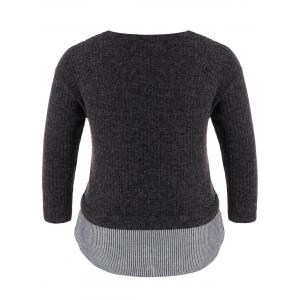 Plus Size Crew Neck Pullover Sweater -