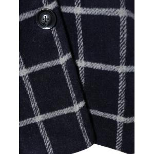Plus Size Double Breasted Plaid Hooded Coat -