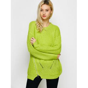 Open Knit Pullover Sweater -