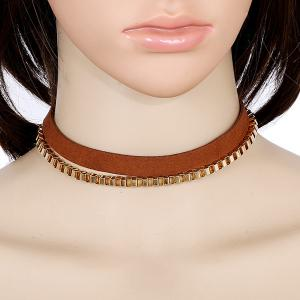 Multilayered Faux Leather Choker
