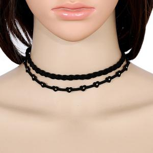 Heart Faux Leather Velvet Choker Necklace