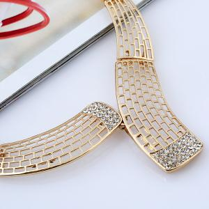 Alloy Rhinestone Necklace and Bead Earrings -