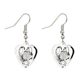 Rhinestone Heart Shaped Earrings
