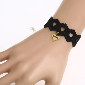 Faux Leather Velvet Heart Bracelet