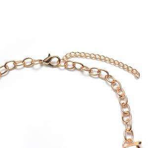 Enamel Hollow Out Branch Necklace -