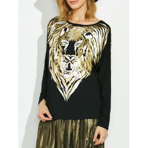 Lion Gilding Maternity Tee - Black - One Size
