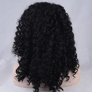 Shaggy Medium Kinky Curly Lace Front Synthetic Wig -