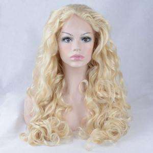 Shaggy Long Wavy Lace Front Synthetic Wig -