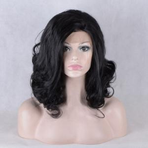 Medium Inclined Parting Shaggy Wavy Lace Front Synthetic Wig -