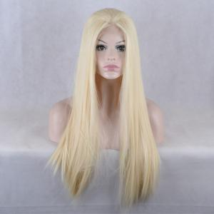 Natural Straight Long Lace Front Synthetic Wig -