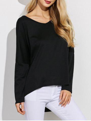 Latest V  Neck  High Low Tee
