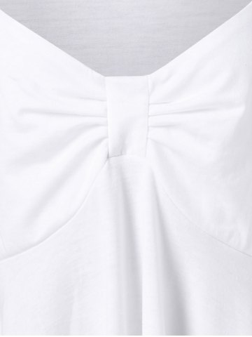 Online Butterfly Sleeve Asymmetrical Plus Size Tee - 2XL WHITE Mobile
