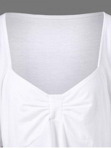 Outfit Butterfly Sleeve Asymmetrical Plus Size Tee - 2XL WHITE Mobile