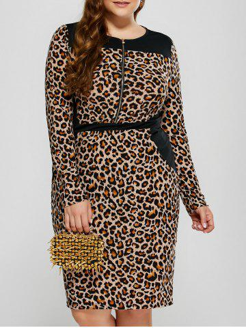 Outfits Leopard Plus Size Midi Dress