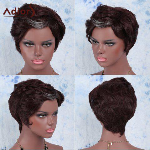 Adiors Hair Short Straight Highlights Synthetic Wig - COLORMIX