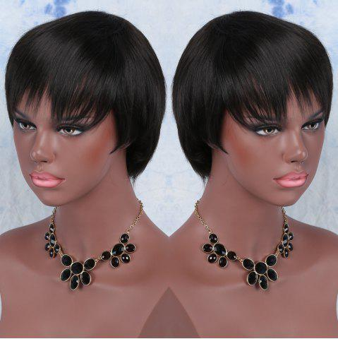 Latest Spiffy Short Synthetic Full Bang Straight Wig