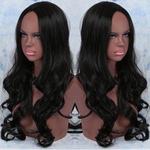 Shops Long Synthetic Centre Parting Wavy Wig