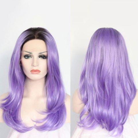 Best Long Centre Parting Layered Tail Adduction Lace Front Synthetic Wig