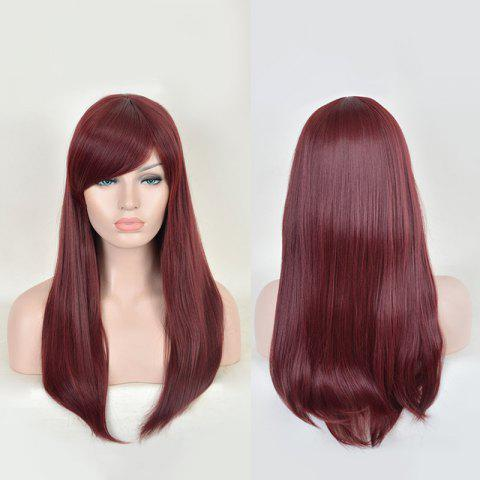 Shops Long Side Bang Tail Adduction Lace Front Synthetic Wig