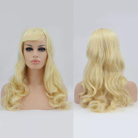 Trendy Sparkling Long Side Bang Wavy Lace Front Synthetic Wig